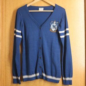 Harry Potter Ravenclaw Cozy Blue Cardigan sz M